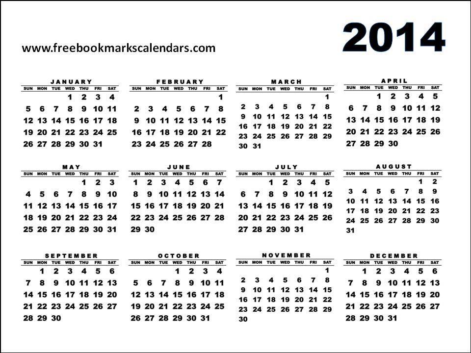 Yearly 2014 printable calendar autos weblog 2014 2015 for 2014 full year calendar template