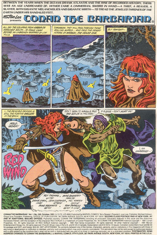 Conan the Barbarian (1970) Issue #249 #261 - English 2