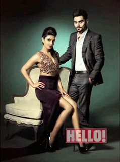 "Priyanka Chopra and Virat Kohli – Hot Photoshoot for ""Hello Magazine"" April 2014"