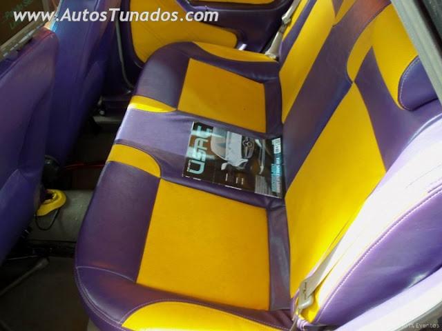 bancos coloridos, gol, carro