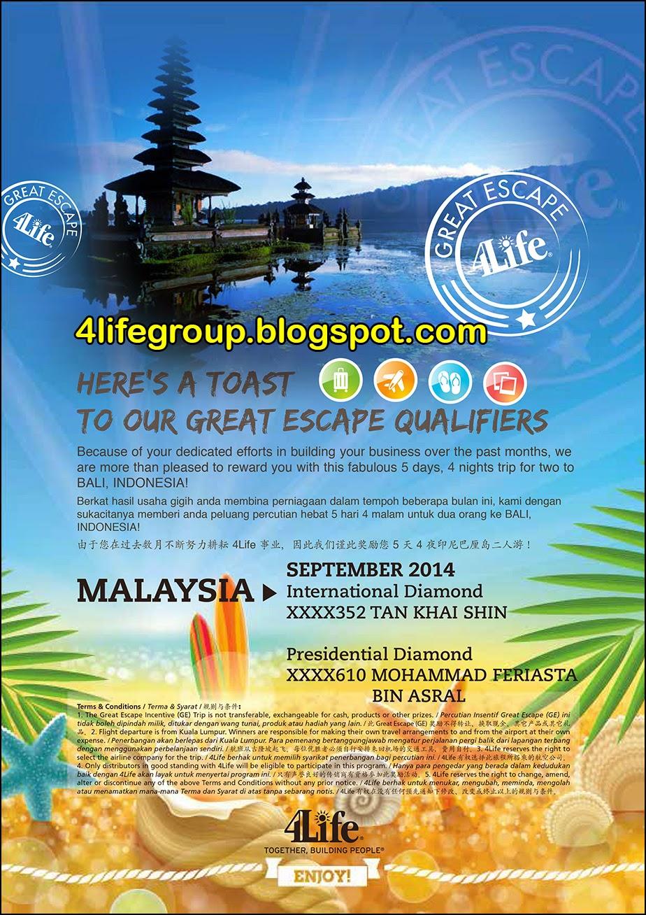foto September 2014 Great Escape+ Winner