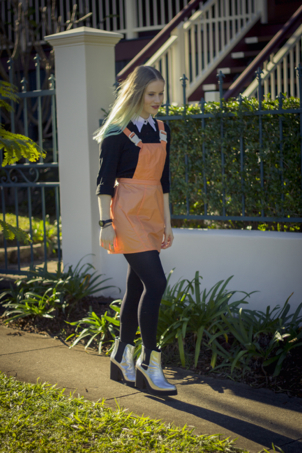 orange pinafore dress nasty gal fashion