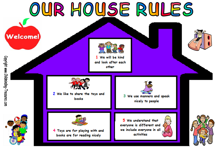 Influential image inside free printable house rules chart