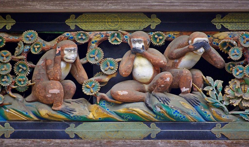 Ver Oír Callar Eufrasio Saluditero Marinetti Love Santelia Ecóuteur Hidari Jingoro Santuario de Toshogu Nikko Japón