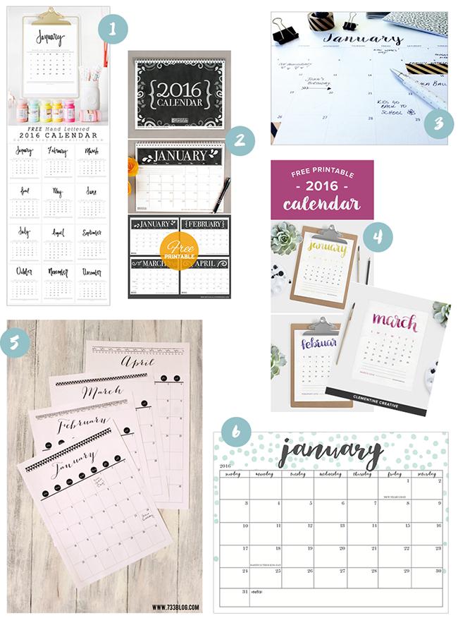 Ynas Design Blog | Kalender 2016