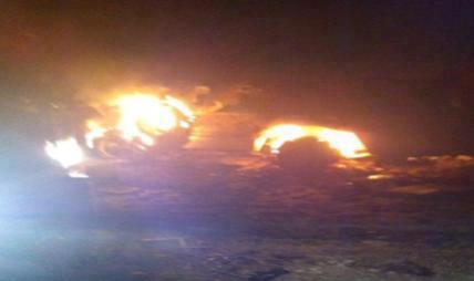 أول صورة لإنفجار المدرعتين المصريتين الذين تم استخدامهما في الحادث برفح