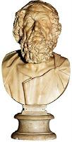 Busto de Homero. Escultura helenistica. Grecia