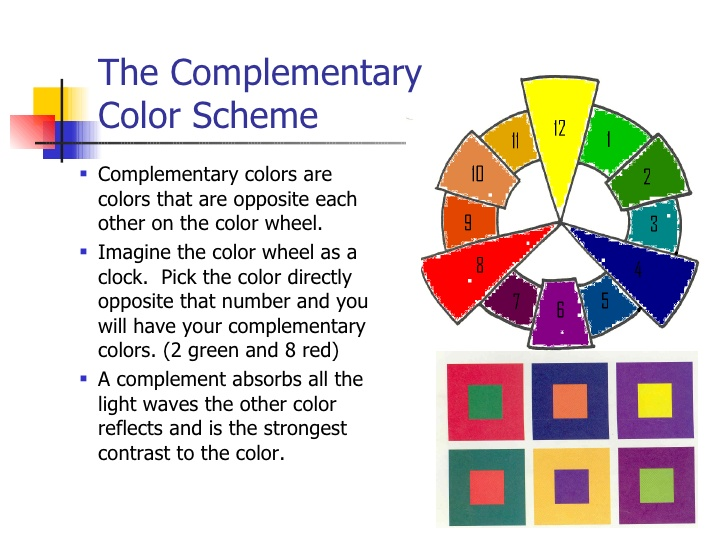 Complementary Colors Are Any Two Hues Positioned Exactly Opposite Each Other On The Basic Color Wheel