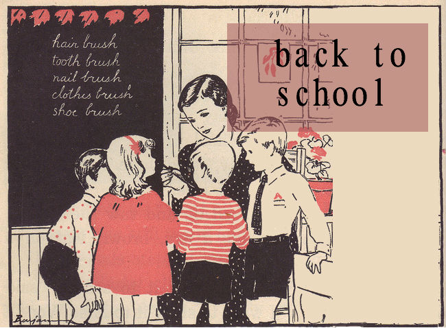 vintage back to school banner