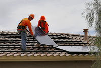 California has more rooftop solar than any state in the country. Advocates want to keep it that way. (Credit: AP Photo/Matt York) Click to Enlarge.