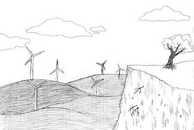 Desenho energia limpa; energia eólica