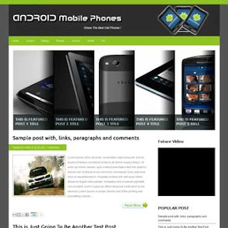 Android Mobile Phones Blogger Template
