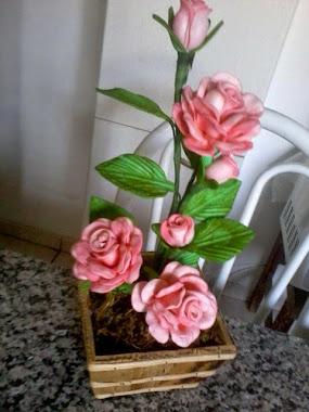 Meu arranjo de rosas
