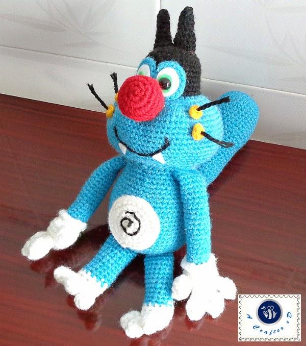 crochet Oggy free pattern