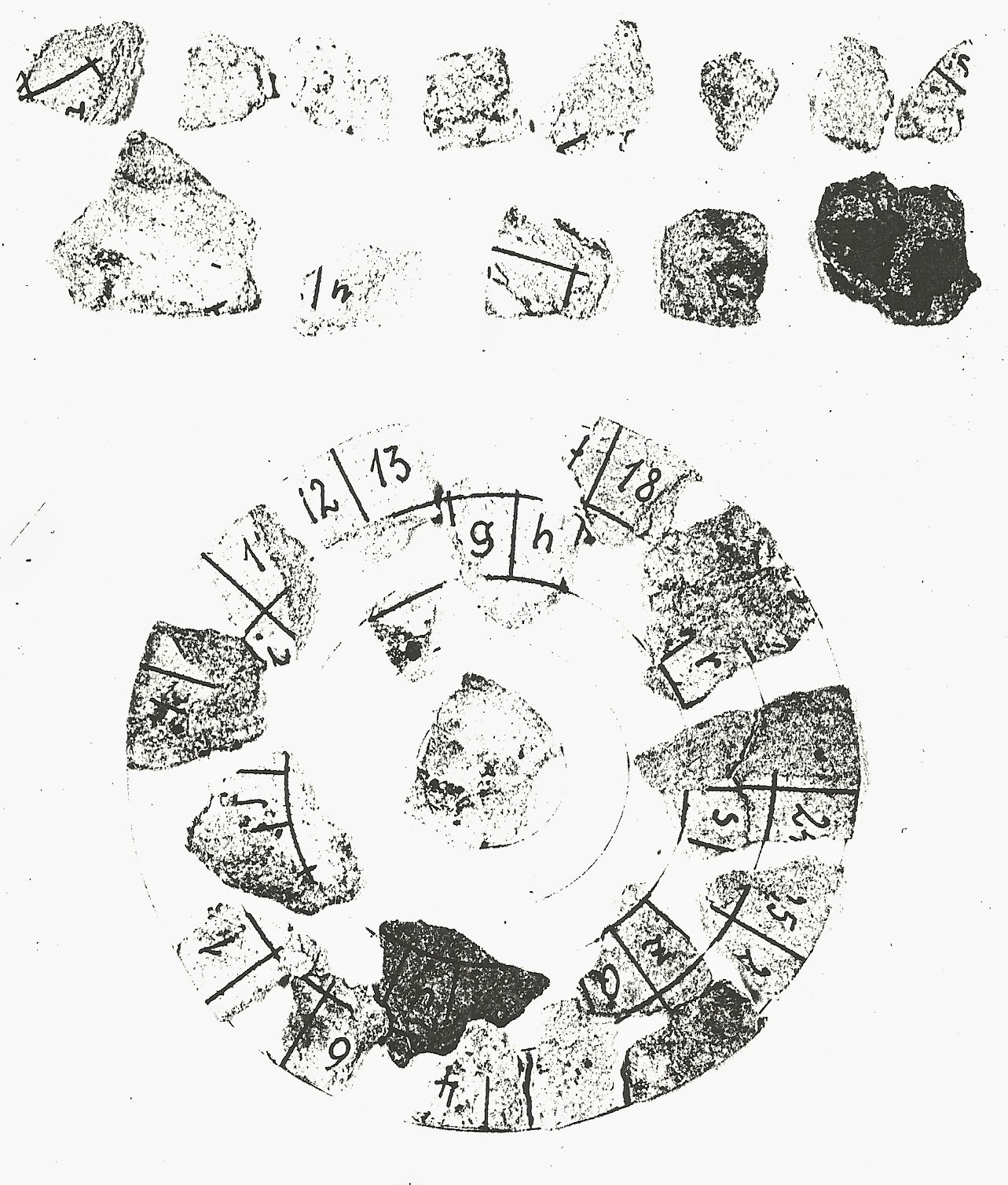 Outer circle of Josef Jakob's cipher disc.