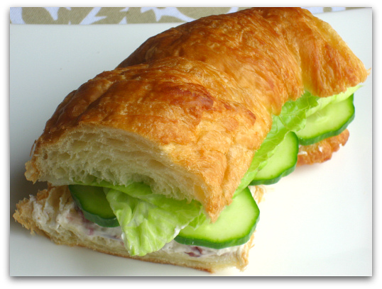 cucumber tea sandwich croissant