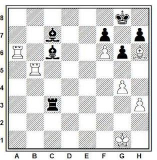 Posición de la partida de ajedrez Gorshkov - Suchkov (Correspondencia, 1987)