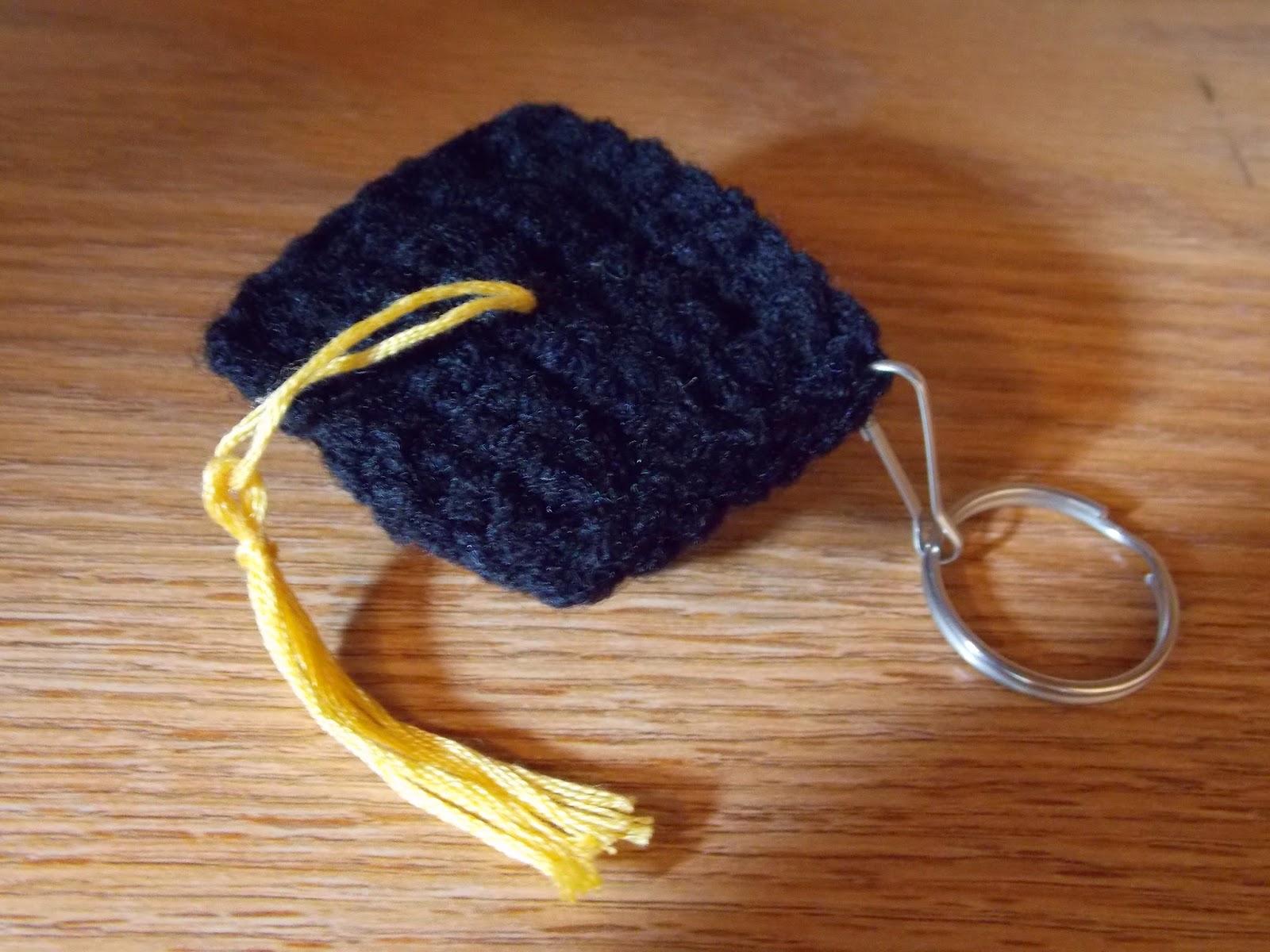 Great Grey Crochet  Graduation Cap 1508e534670