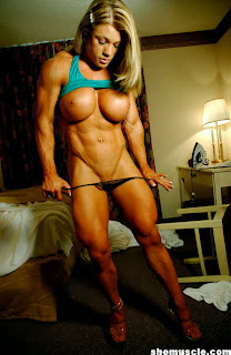 Naked bodybuilding woman