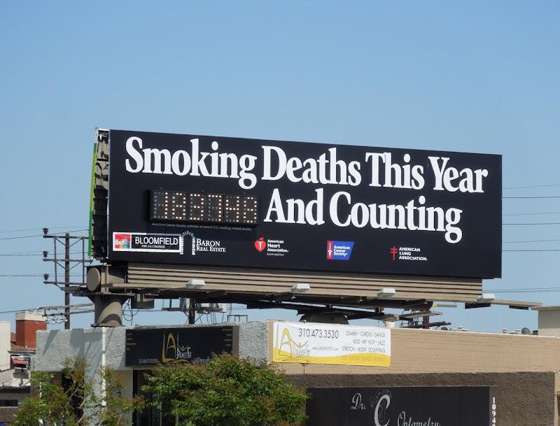 Smoking deaths counter billboard