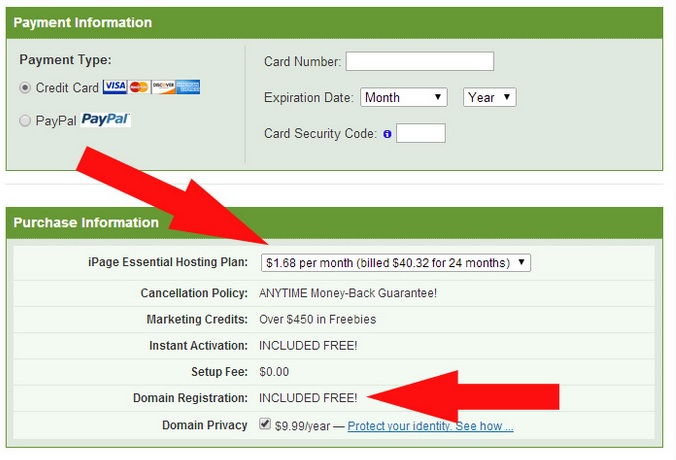 Ipage Coupon Pay