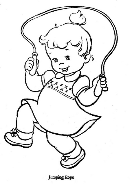 kids jumping rope coloring pages - photo#5
