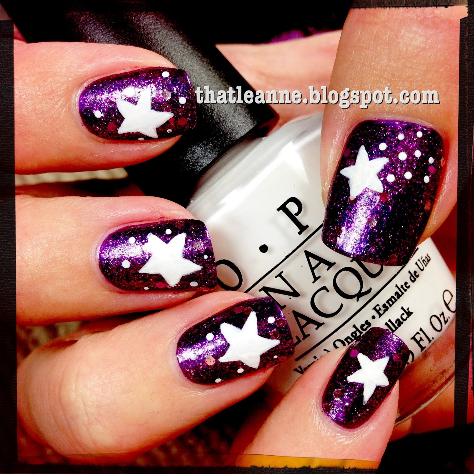 thatleanne: Simple star nail art with butter London HRH, Shambolic