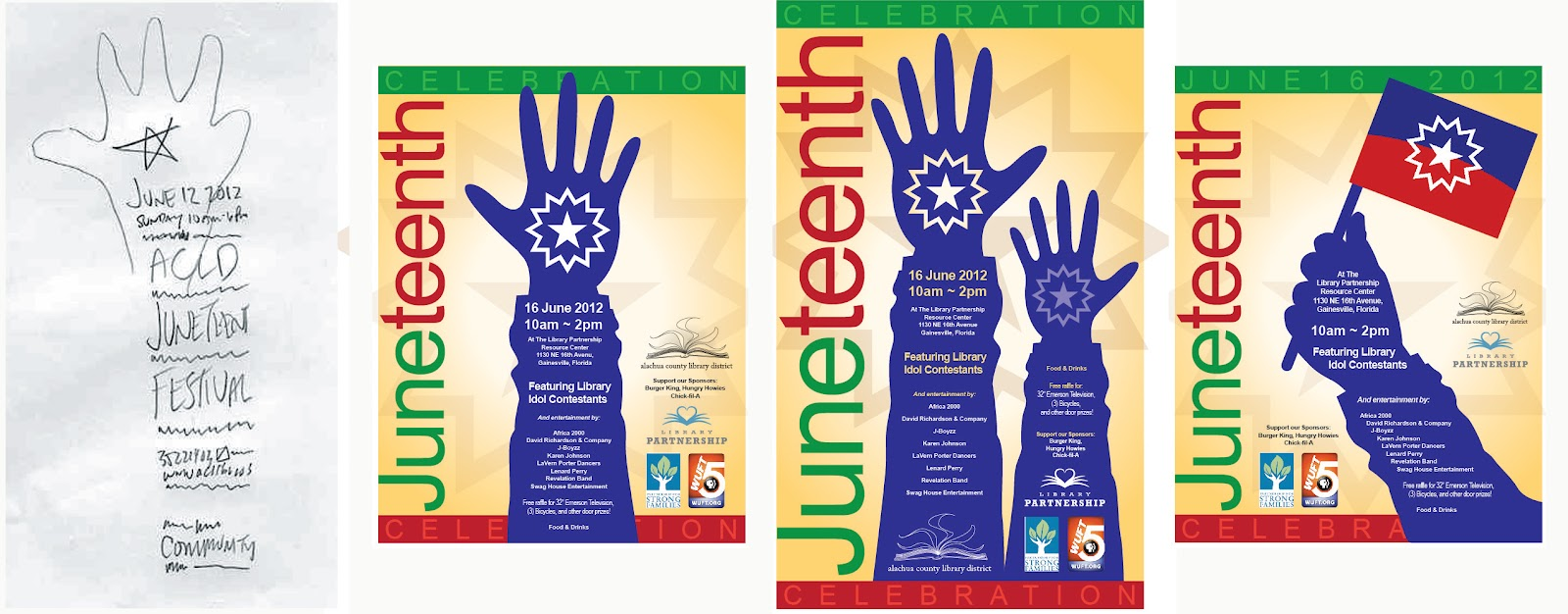 Design for Library Juneteenth Event 2012 | History of Graphic Design