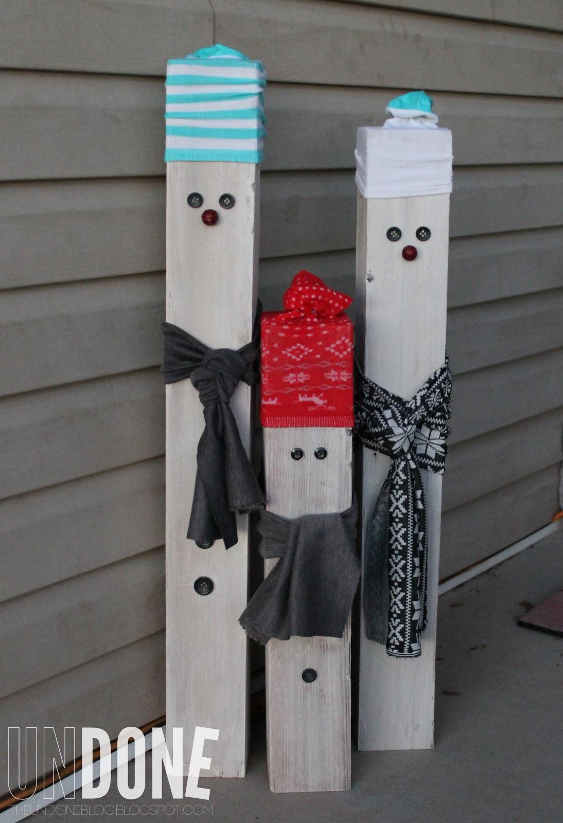 Undone fence post snowmen practicing pinterest for Decoration 4x4