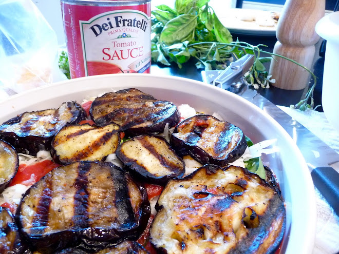 Grilled Eggplant is Layered Up for an Eggplant Gratin with Fresh Basil and 4 Cheeses