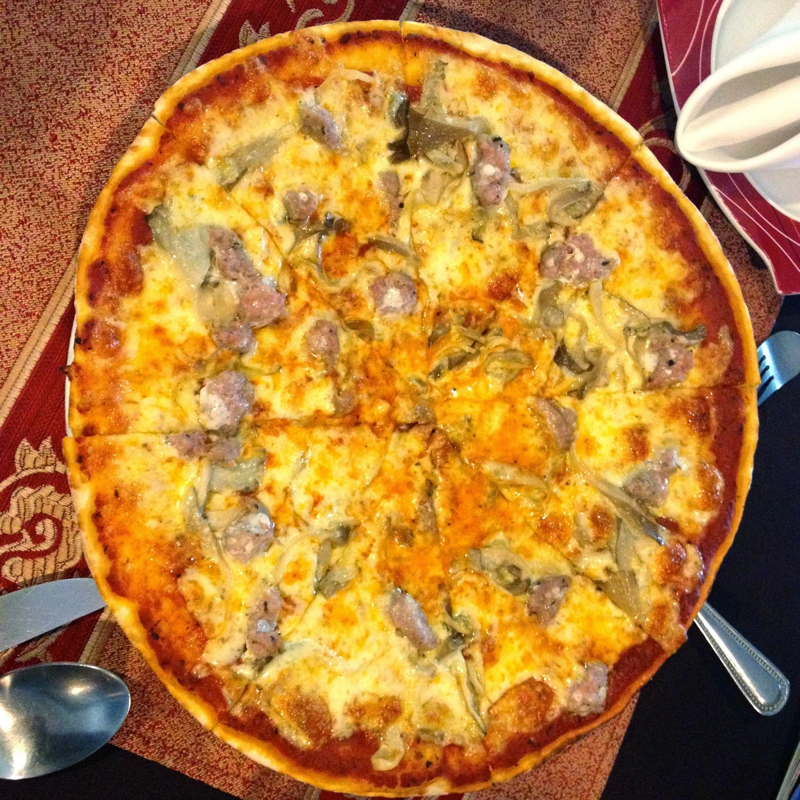 Italian Sausage and Mushroom Pizza #kalamicebu
