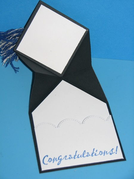 Ink Stains Graduation Cap Money Card