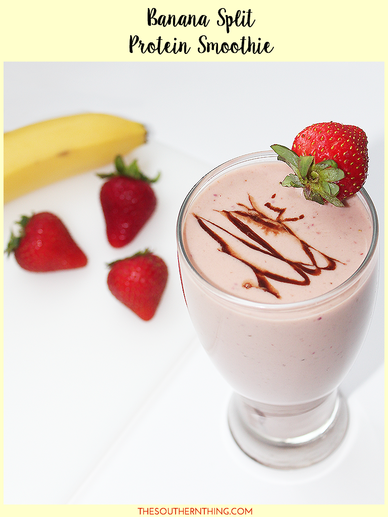 Banana Split Protein Smoothie recipe