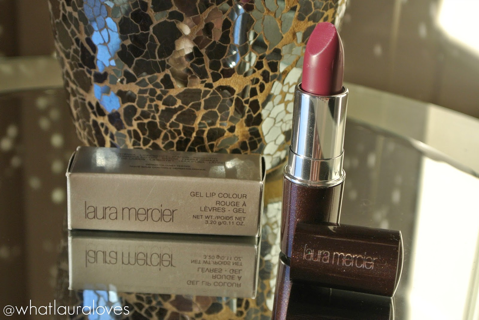 Laura Mercier Gel Lip Colour in Temptation Lipstick Review and Swatches