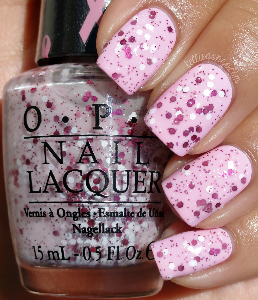 OPI - The Power of Pink over Mod About You // kelliegonzo.com