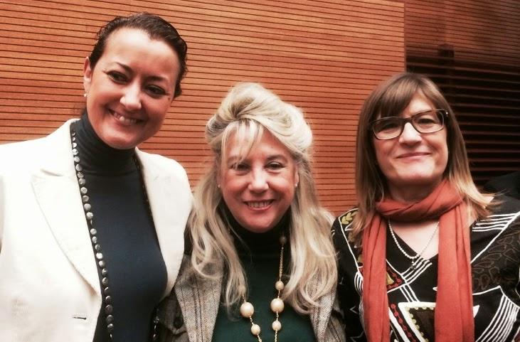 Mª Dolores Navarro, Begoña Larrainzar y Raquel de Frutos.