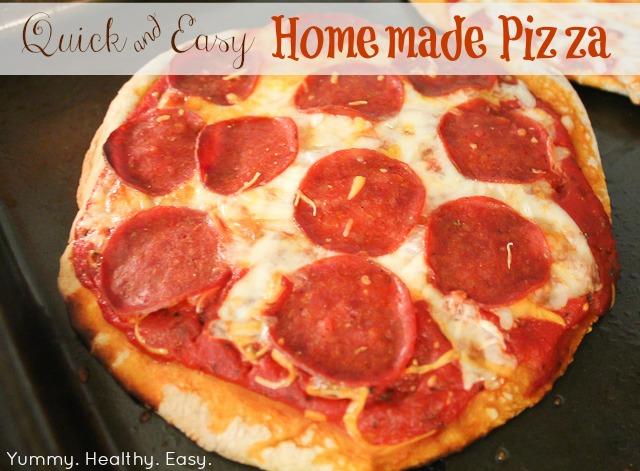 easy homemade pizza yummy healthy easy