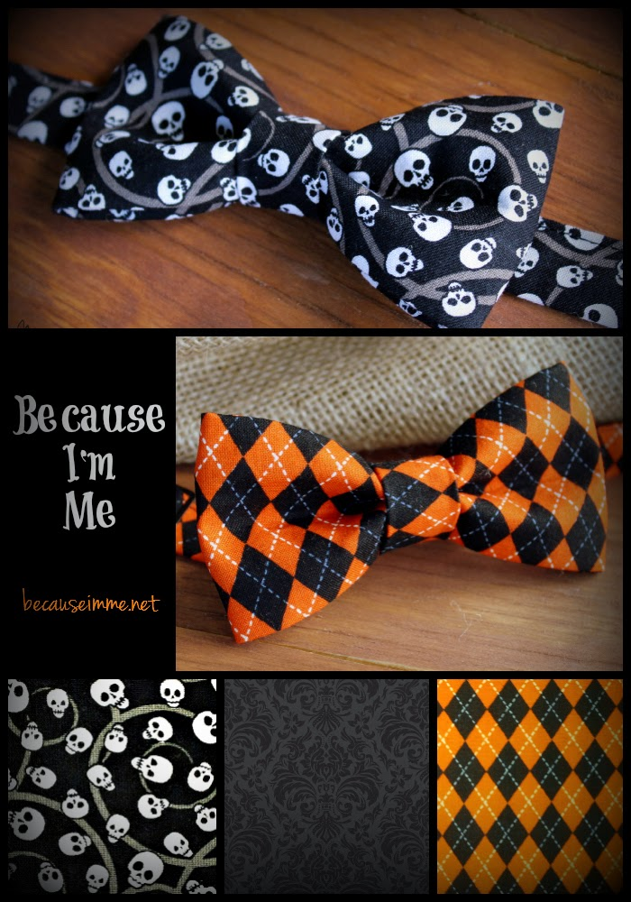 Because I'm Me cotton Halloween bow and neck ties