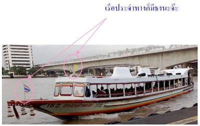รูป เรือประจำทาง หรือเรือไม่มีธง เรือเจ้าพระยา