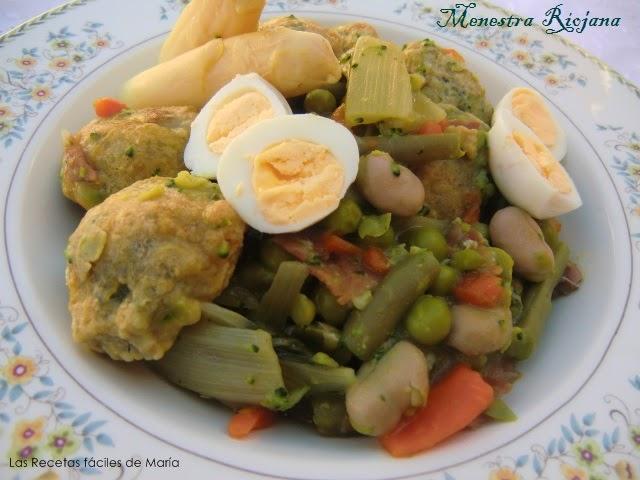 Las recetas f ciles de mar a menestra riojana toda una - Como preparar menestra de verduras ...