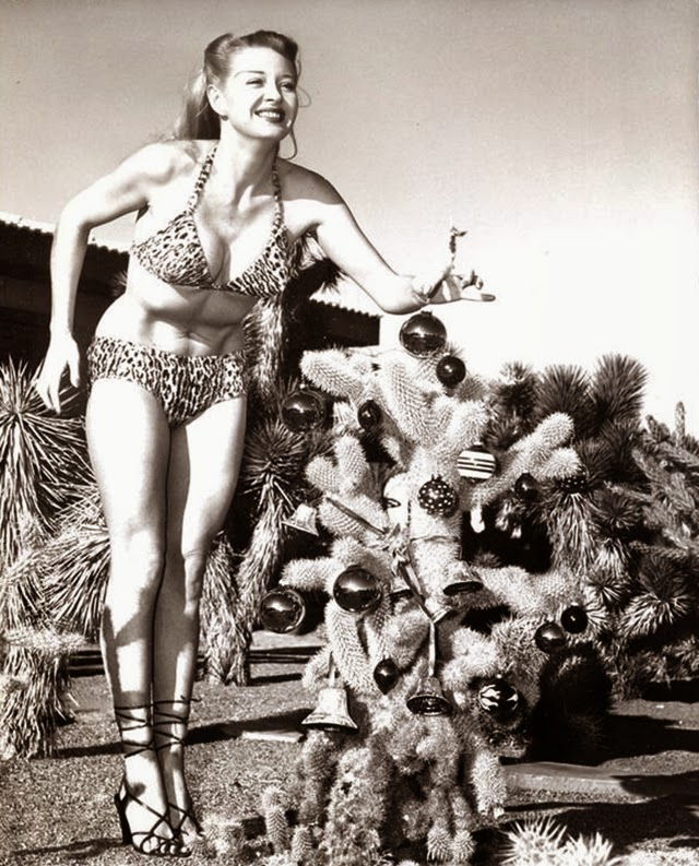 30 Vintage Hollywood Starlet Christmas Pin-up Photos ~ vintage ...