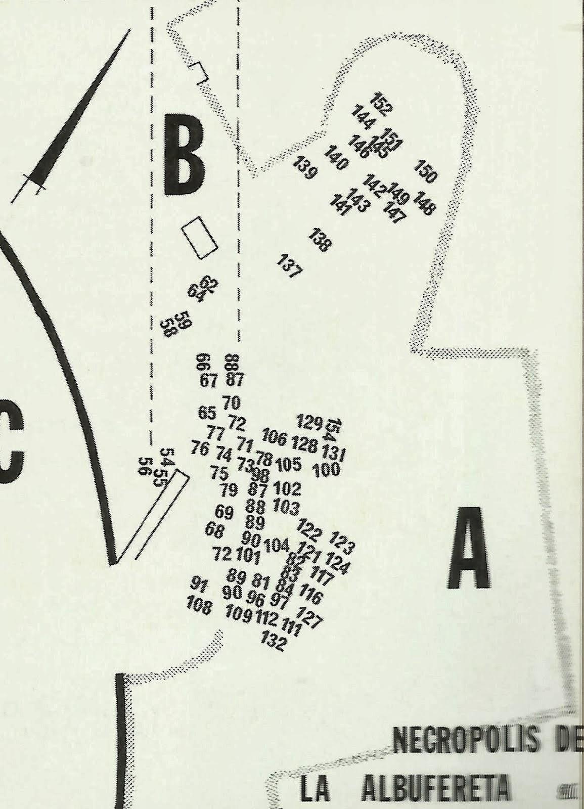 Necropolis sur-oeste según Enrique Llobregat