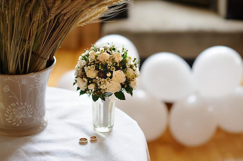 žiemos vestuvinė puokštė