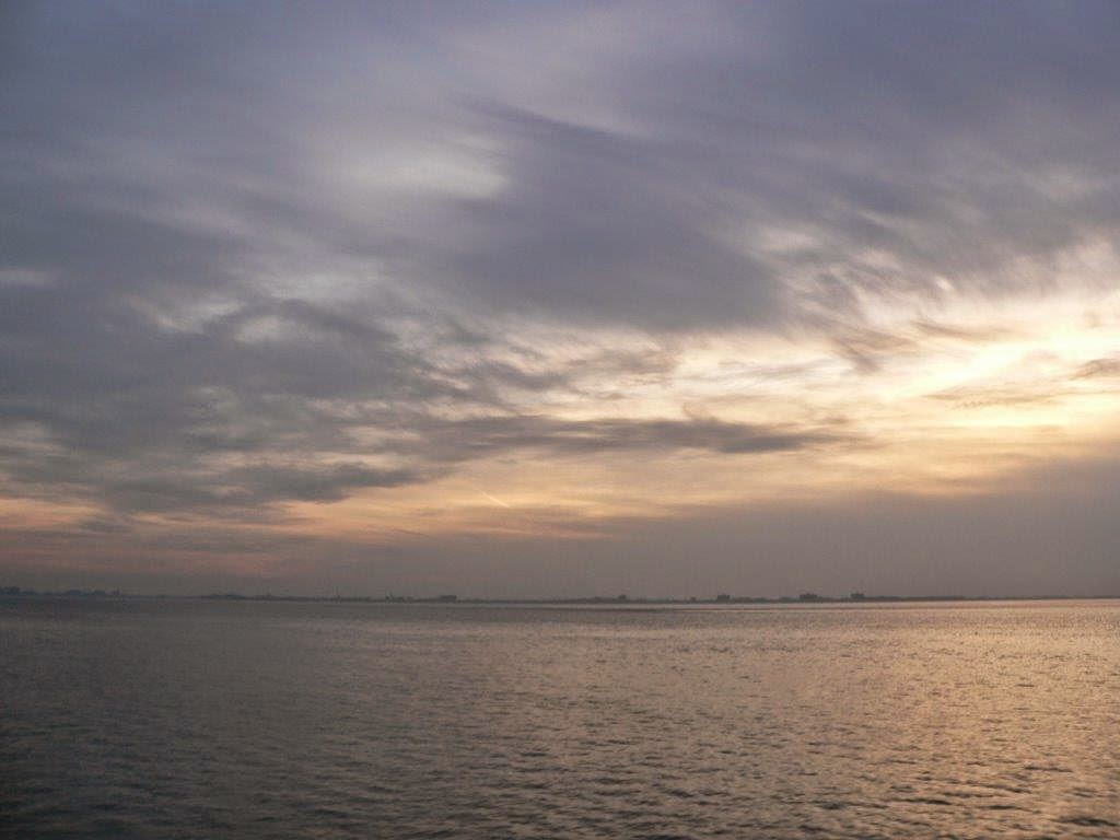Wochenende Winter Urlaub Insel Meer Strand Ausblick Sonnenuntergang Wolken