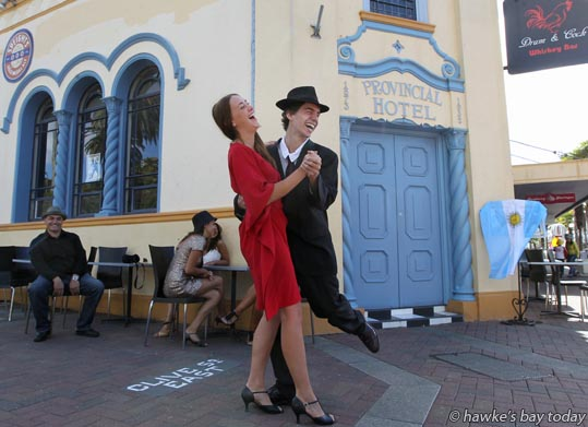 Laughing Latinas: promo for Art Deco Weekend, at The Provincial Hotel, Napier photograph