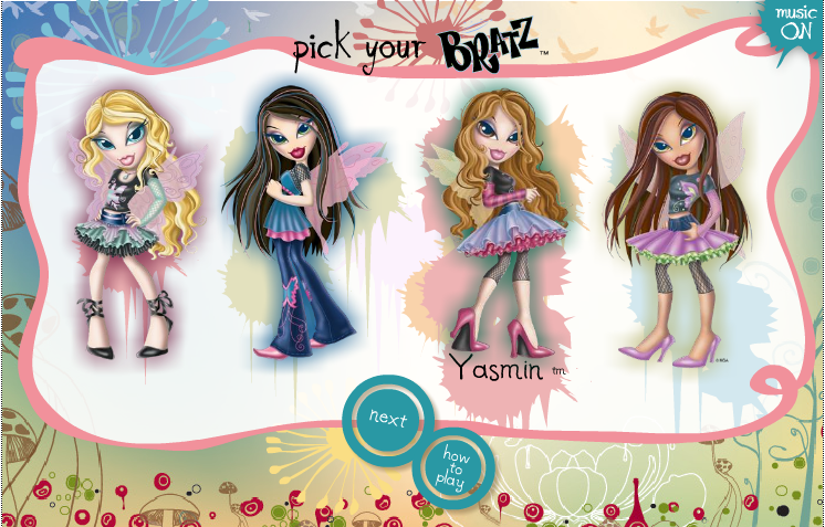 bratz games tween girl online games play brats dress
