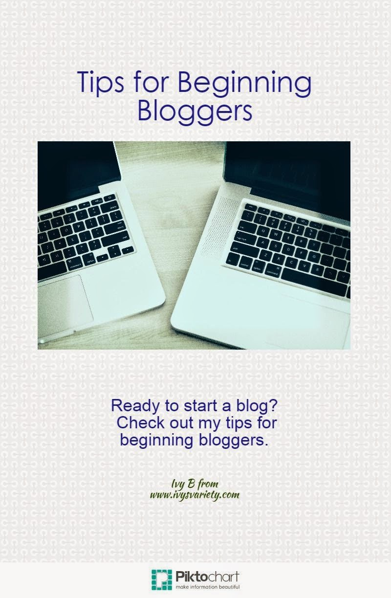 tips for beginning bloggers #ivysvariety