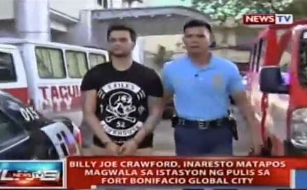 Billy Crawford detained