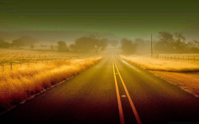 12224-Misty Road Beautiful Nature Landscape HD Wallpaperz