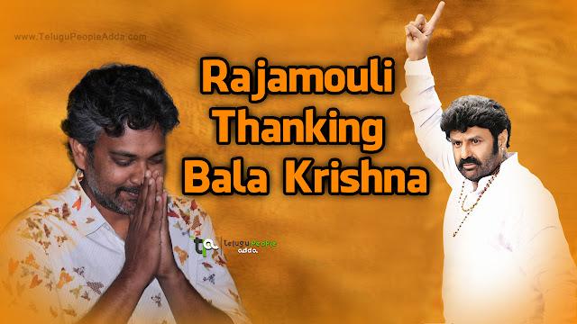 SS.Rajamouli Thanking Nandamuri BalaKrishna